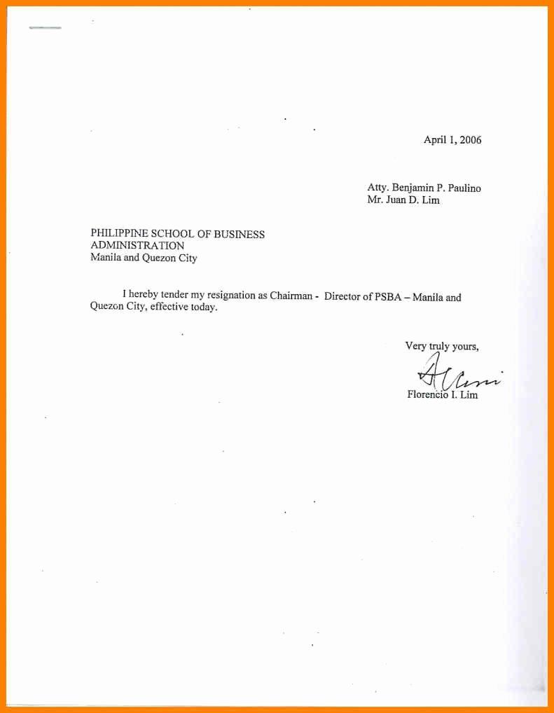 Simple Resignation Letter Templates Luxury Sample Simple Resignation Letter