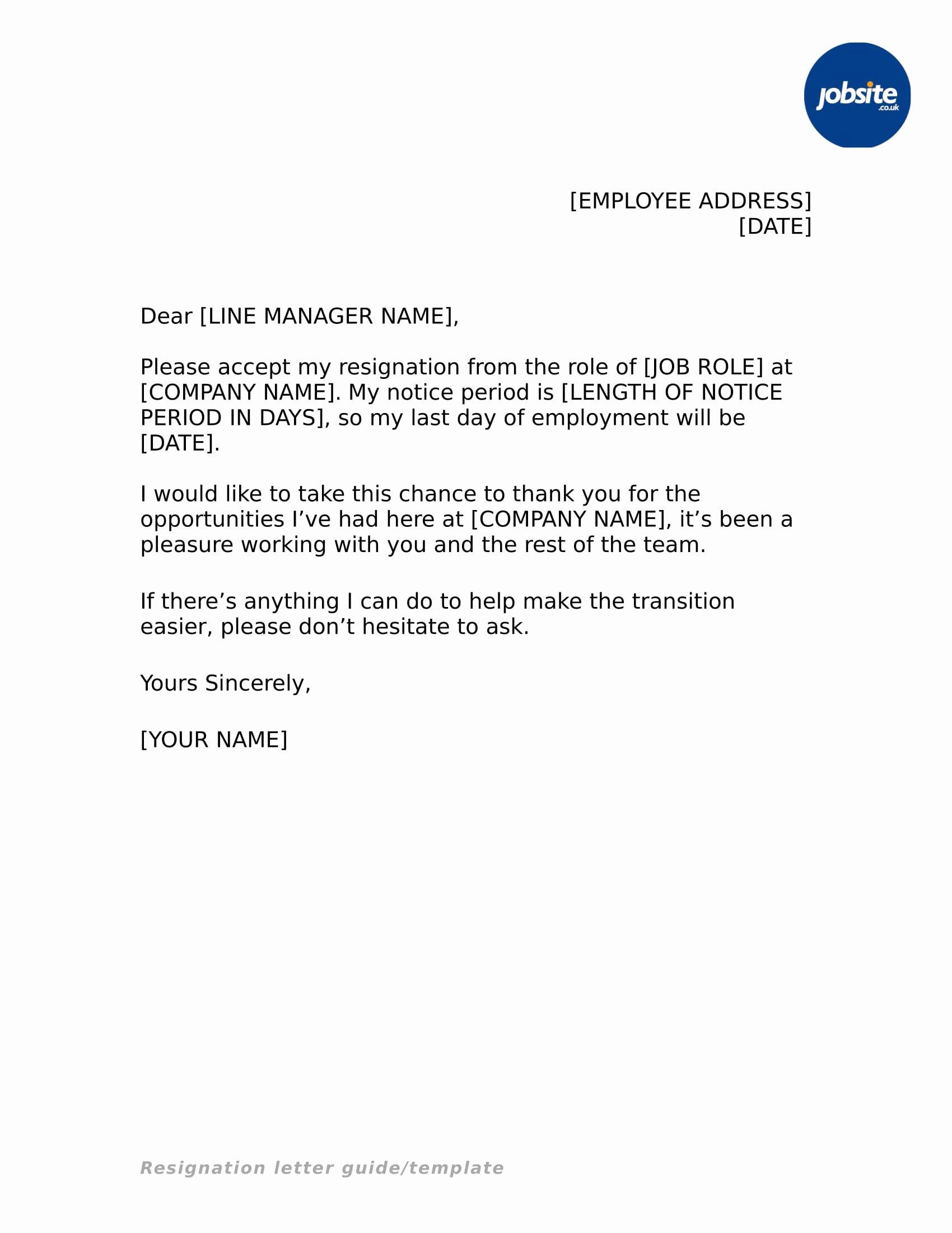 Simple Resignation Letter Templates Unique 35 Simple Resignation Letter Examples Pdf Word