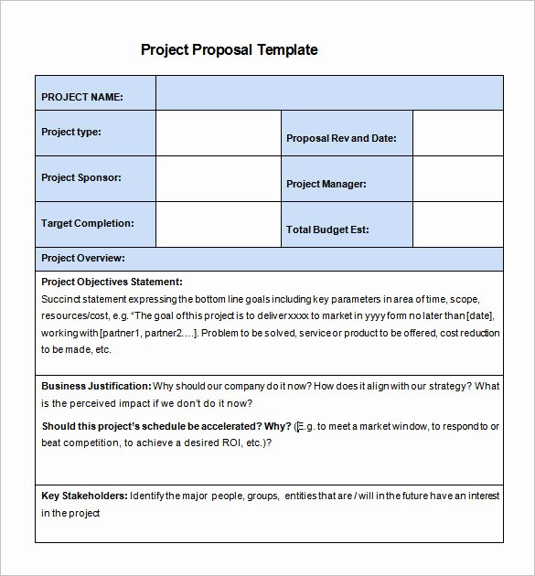 Simple Rfp Template Word Beautiful 20 Free Project Proposal Template Ms Word Pdf Docx