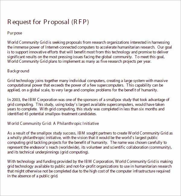 Simple Rfp Template Word Beautiful Free 14 Sample Request for Proposal Templates In Google