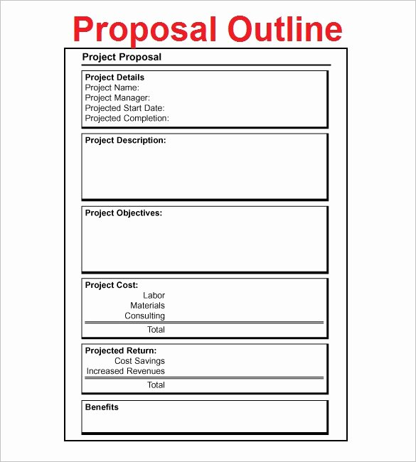 Simple Rfp Template Word Fresh Project Proposal Outline