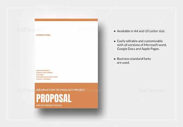 Simple Rfp Template Word Fresh Project Proposal Templates 21 Free Sample Example