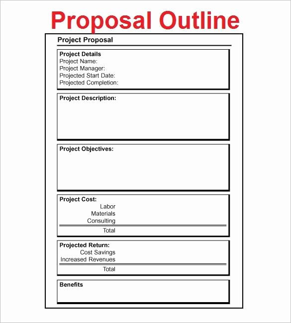 Simple Rfp Template Word Luxury Proposal Outline Template – 9 Free Free Word Pdf format