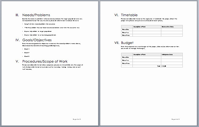 Simple Rfp Template Word New Project Proposal Template – Microsoft Word Templates