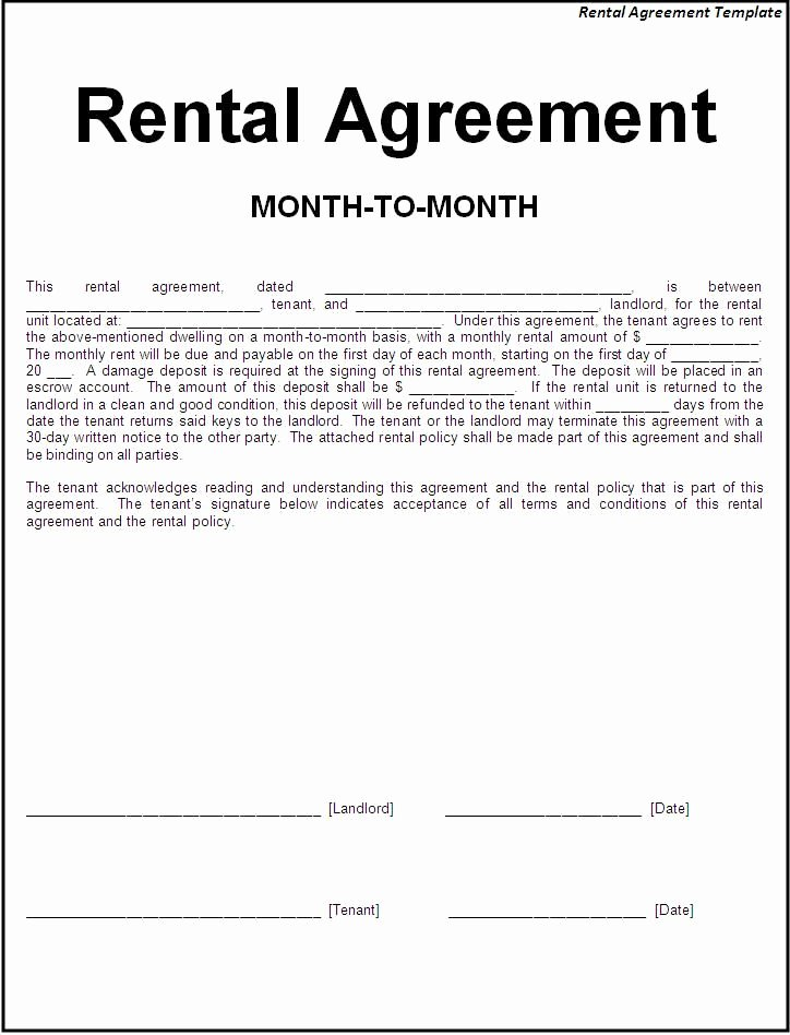 Simple Room Rental Agreement Template Awesome Printable Sample Simple Room Rental Agreement form