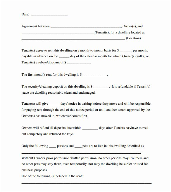 Simple Room Rental Agreement Template Best Of Room Rental Agreement 18 Download Free Documents In Pdf