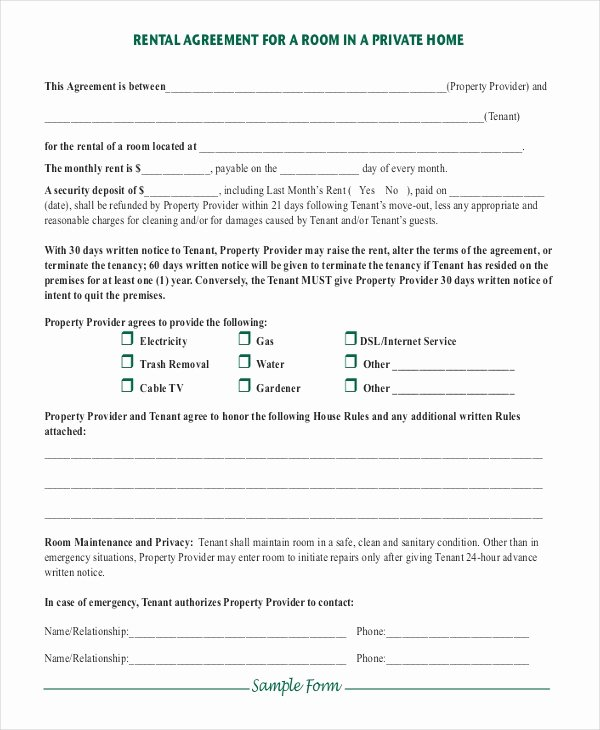 Simple Room Rental Agreement Template Fresh Simple Rental Agreement – 10 Free Word Pdf Documents