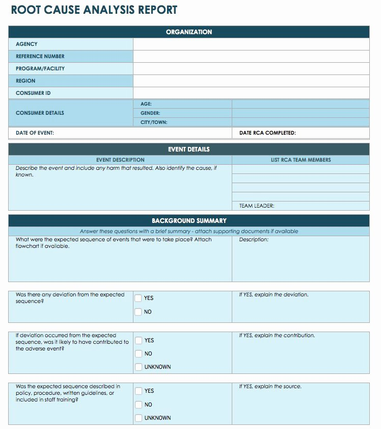 Simple Root Cause Analysis Template Awesome 10 Root Cause Analysis Template [word Excel Pdf]