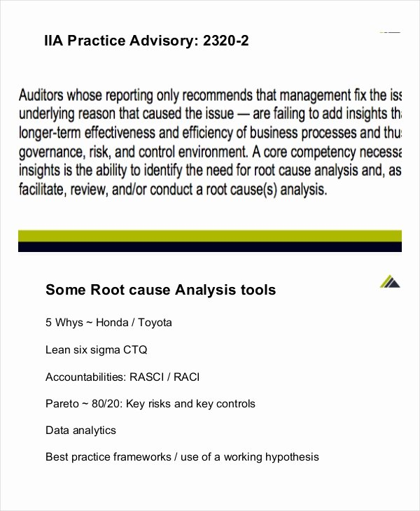 Simple Root Cause Analysis Template Awesome 10 Simple Root Cause Analysis Templates Word Pdf