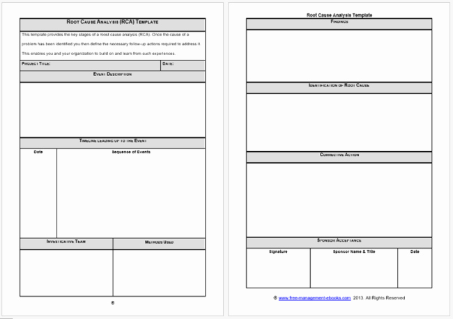 Simple Root Cause Analysis Template Beautiful Root Cause Analysis Templates 8 Docs for Word Excel