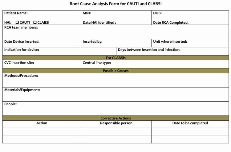 Simple Root Cause Analysis Template Unique 24 Root Cause Analysis Templates Word Excel Powerpoint