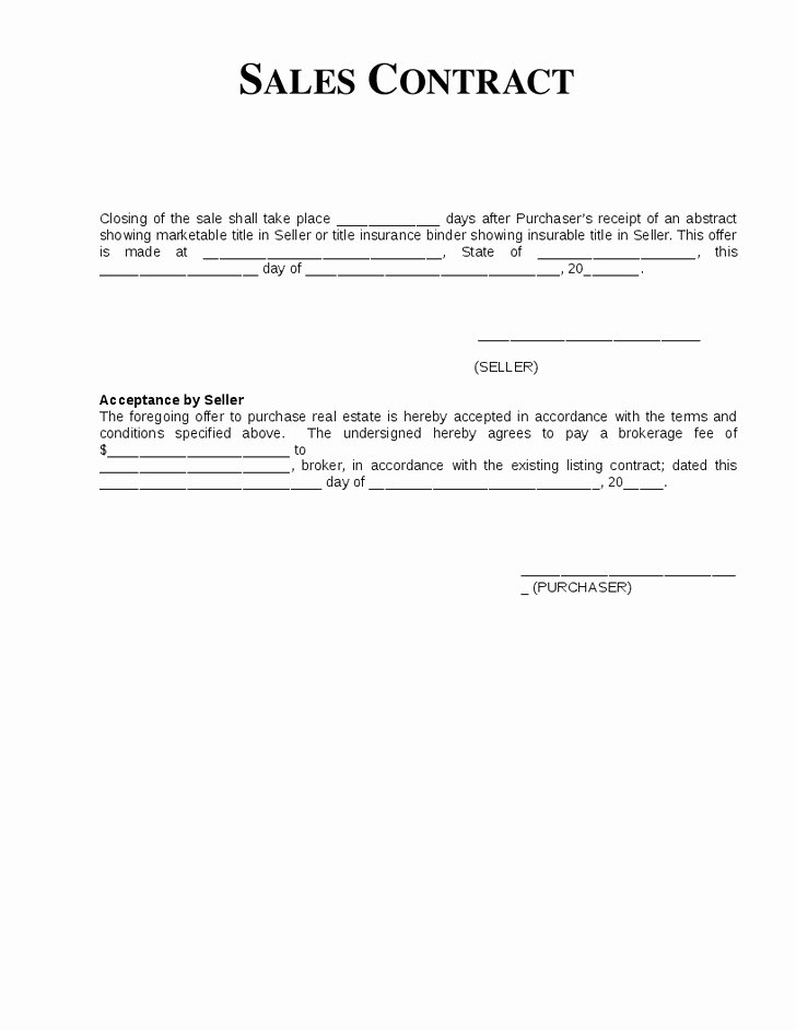 Simple Sales Agreement Template Awesome 13 Best Earnest Money Contract Template Maotme Life