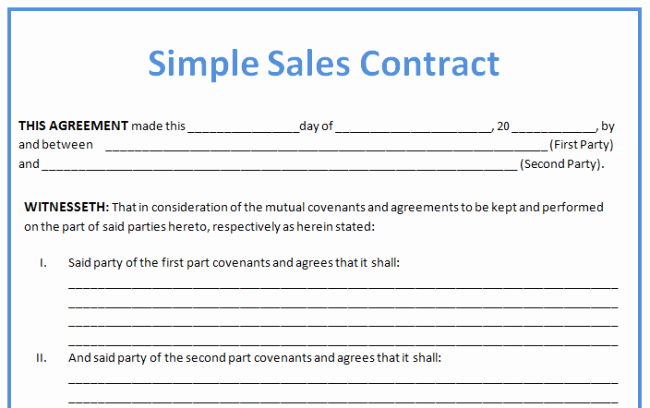 Simple Sales Agreement Template Awesome 19 Perfect Examples Of Business Contract Templates Thogati