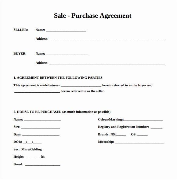 Simple Sales Agreement Template New Purchase Agreement 15 Download Free Documents In Pdf Word