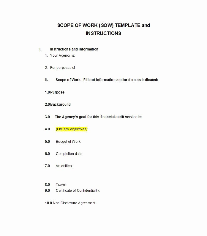 Simple Scope Of Work Template Best Of 30 Ready to Use Scope Of Work Templates & Examples