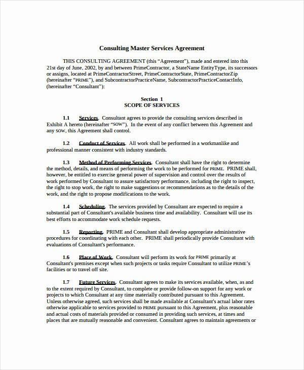 Simple Service Contract Template Unique 21 Simple Service Agreements Word Pdf