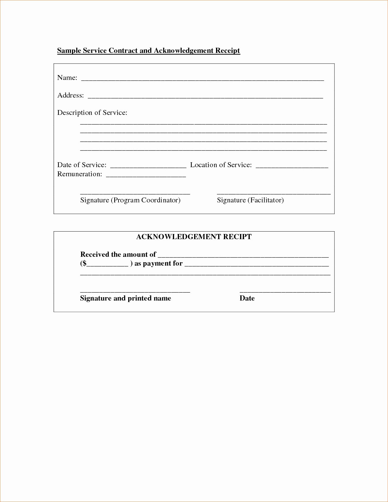 Simple Service Contract Template Unique Service Agreement Template Doc Regular Simple Service