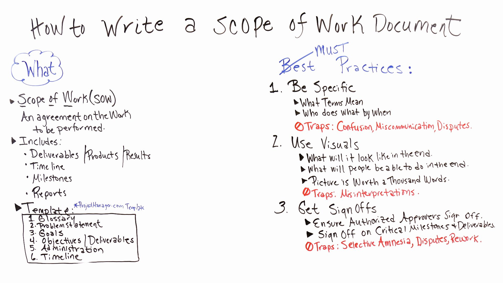 Simple Statement Of Work Template Awesome How to Write A Scope Of Work Projectmanager