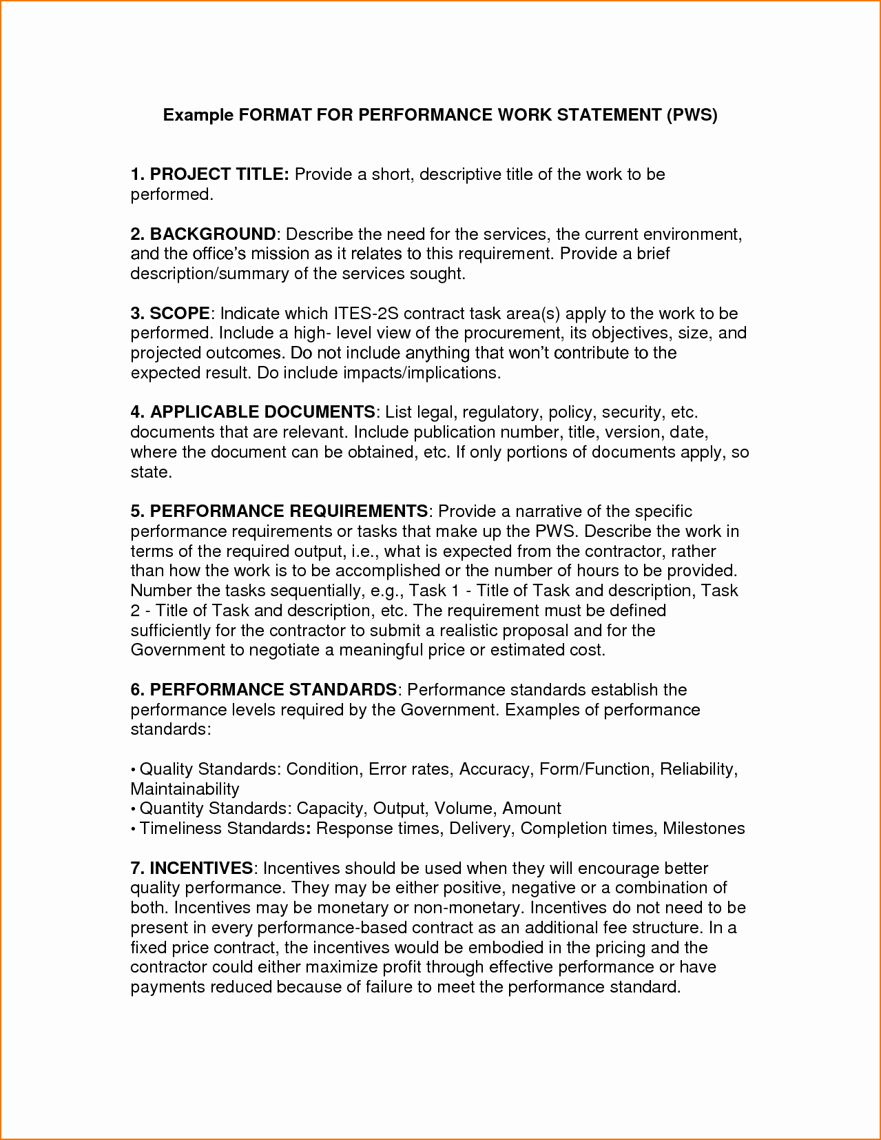 Simple Statement Of Work Template Beautiful 5 Statement Of Work format