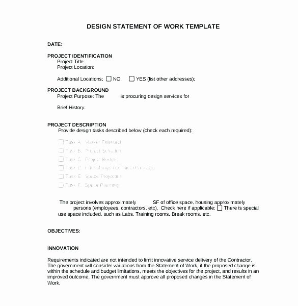Simple Statement Of Work Template Lovely Simple Method Statement Template – Automotoreadfo