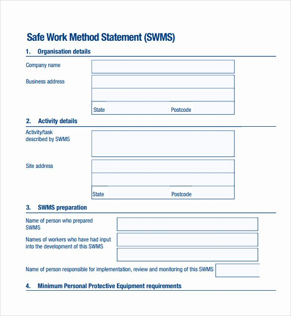 Simple Statement Of Work Template New 9 Method Statement Templates Pdf Word