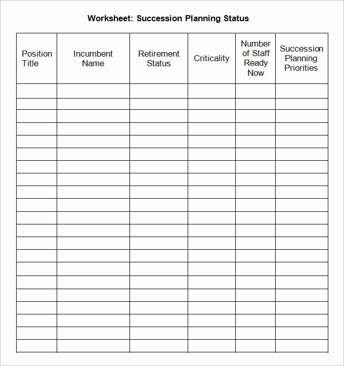 Simple Succession Plan Template Best Of Succession Plan Template