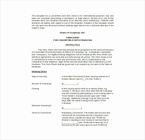 Simple Term Sheet Template Best Of 17 Term Sheet Template Free Word Pdf Documents