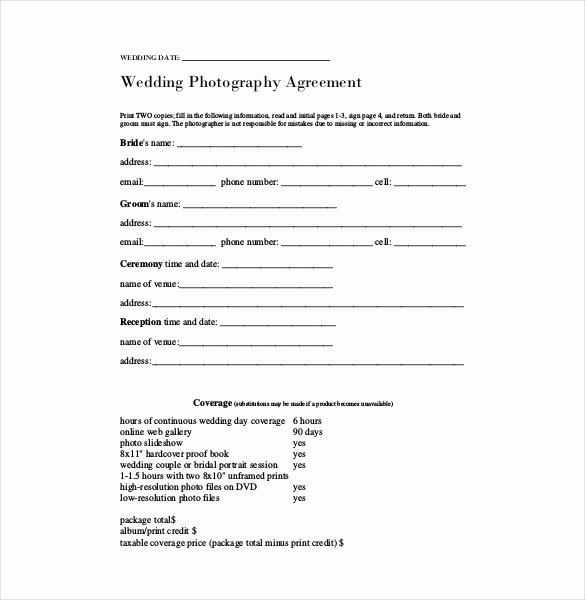 Simple Wedding Photography Contract Template Awesome 23 Simple Contract Template and Easy Tips for Your