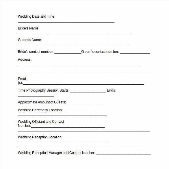 Simple Wedding Photography Contract Template New 14 Wedding Graphy Contract Template 14 Download