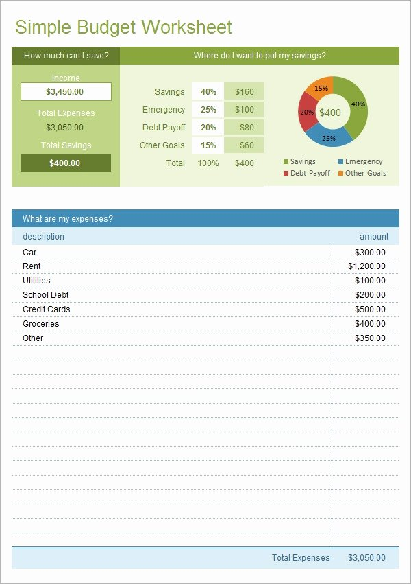 Simple Weekly Budget Template Awesome Free 9 Bud In Samples Example format