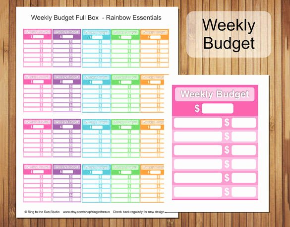 Simple Weekly Budget Template Elegant 29 Bud Templates Word Excel Pdf