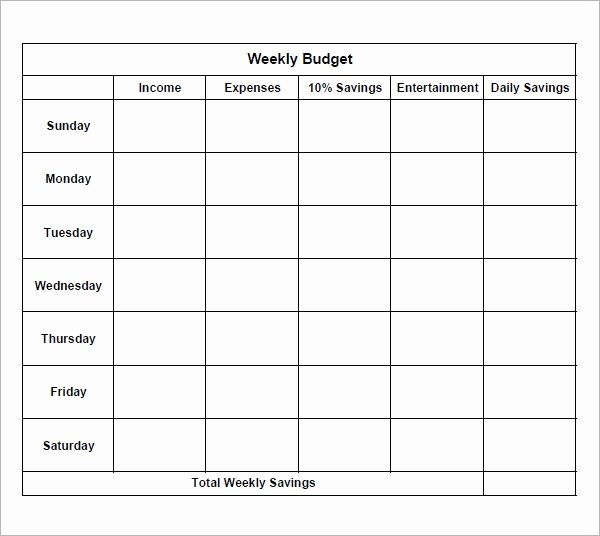 Simple Weekly Budget Template Inspirational Free 9 Examples Of Bi Weekly Bud Templates In Google