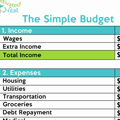 Simple Weekly Budget Template Luxury How to Make A Simple Bud