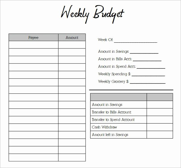 Simple Weekly Budget Template Luxury Simple Bud Template Monthly Bud Template Simple