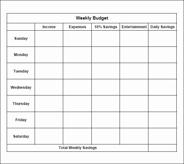Simple Weekly Budget Template New 7 Bi Weekly Bud Template