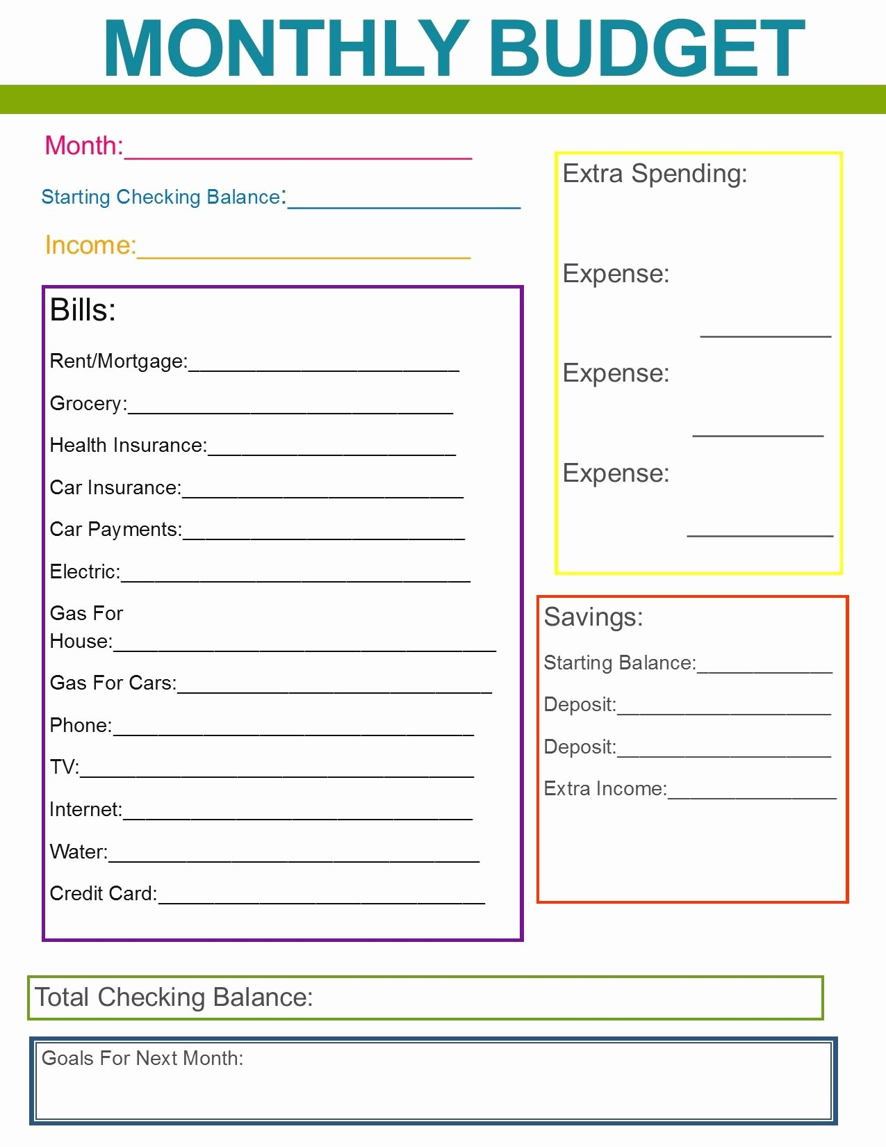 Simple Weekly Budget Template Unique Monthly Family Bud Great Habit to Start for the New