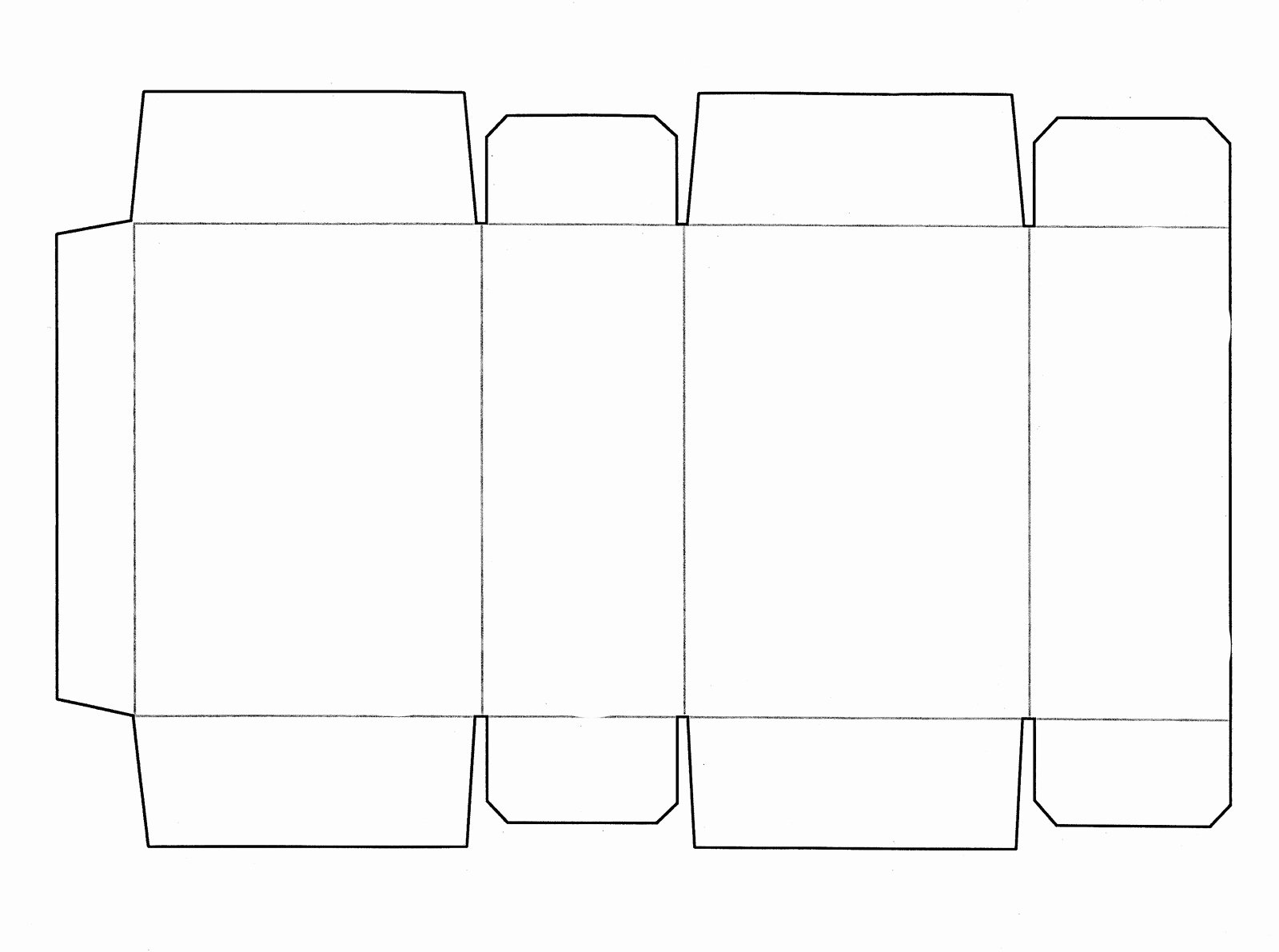 Simple White Paper Template Beautiful Box Template Printable