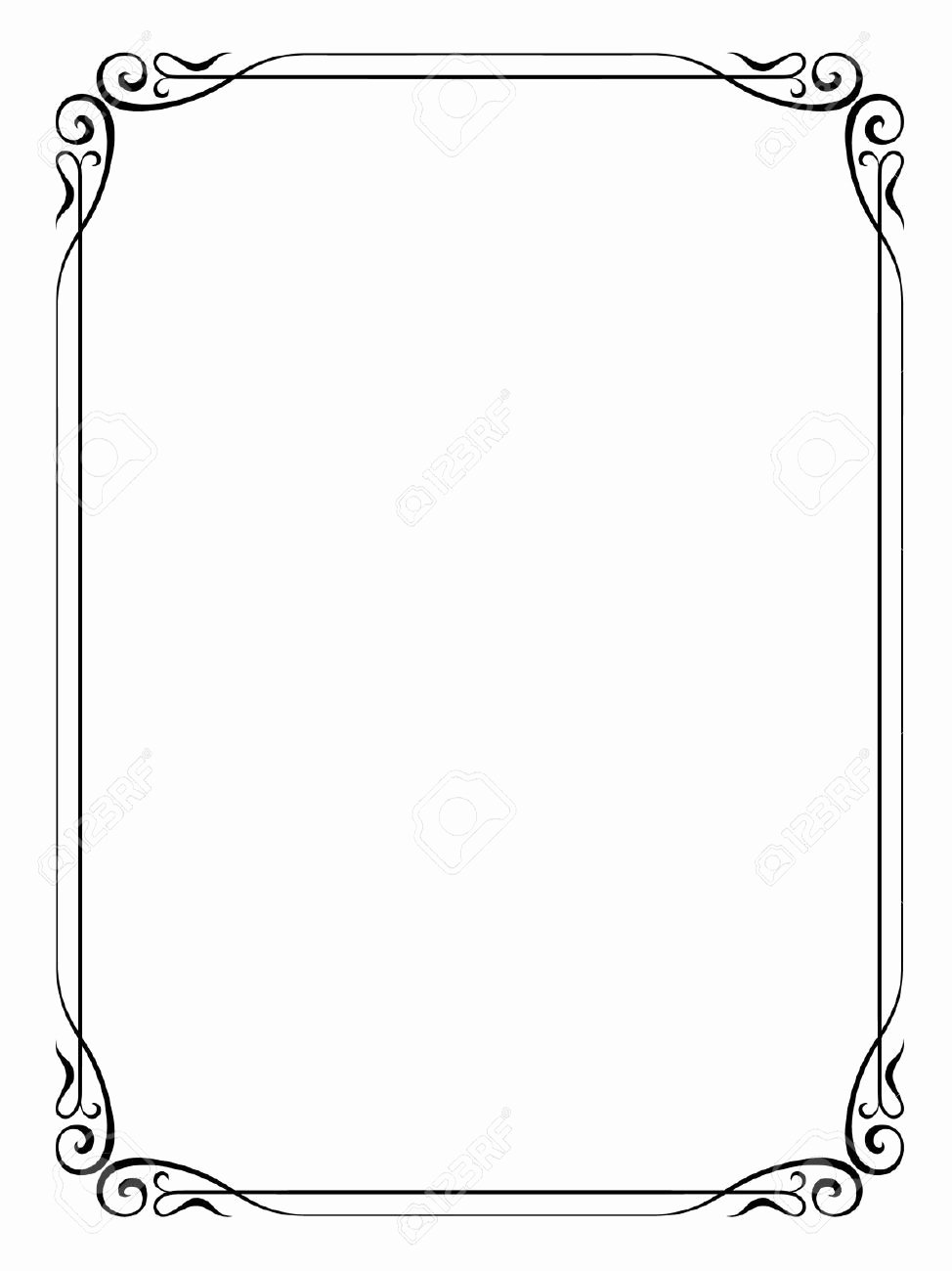 Simple White Paper Template Elegant formal Black and White Borders for Word Google Search
