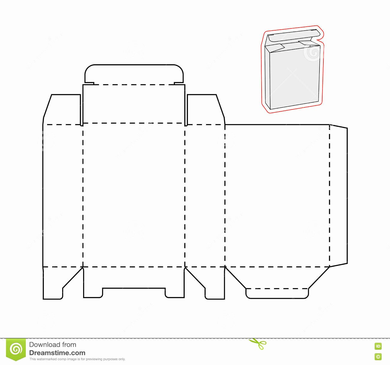 Simple White Paper Template Inspirational Template A Simple Box Cut Out Paper Cardboard Stock