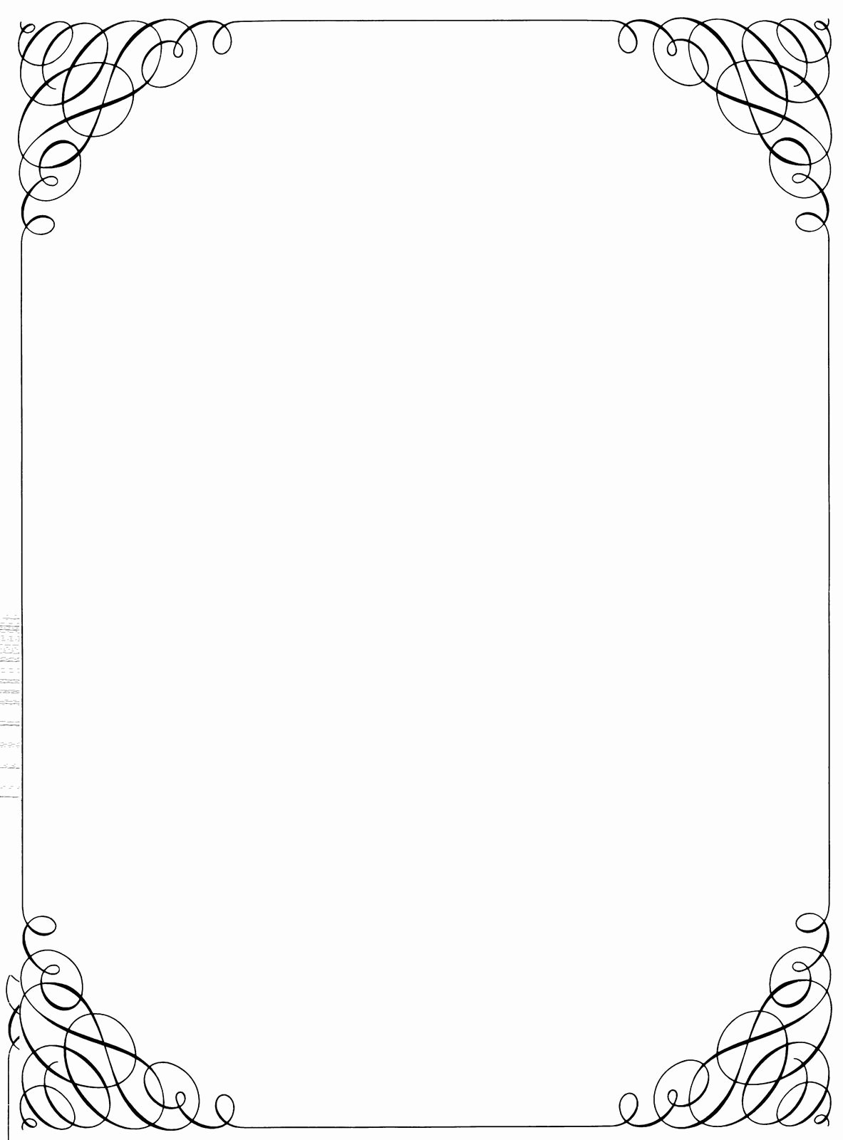 Simple White Paper Template Lovely Black and White Christmas Borders and Frames 110 X 150