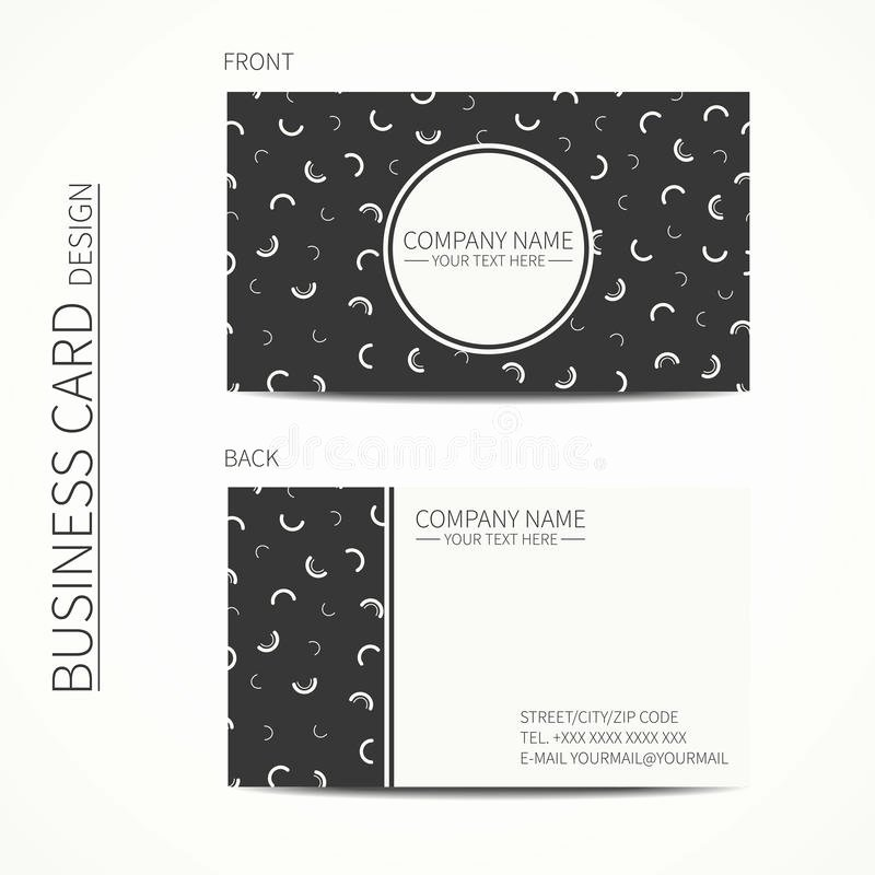 Simple White Paper Template Luxury Vector Simple Business Card Design Memphis Style