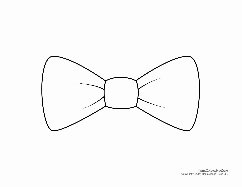 Simple White Paper Template Unique Paper Bow Tie Templates
