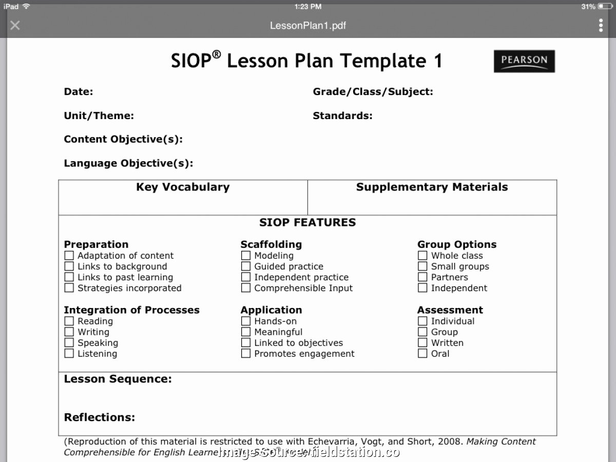 Siop Lesson Plan Template 1 Awesome Plex Detailed Lesson Plan for Grade 1 English A