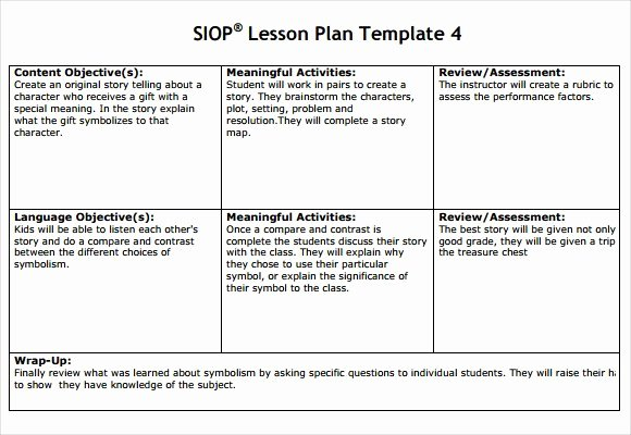 Siop Lesson Plan Template 1 Best Of 30 Siop Lesson Plan Template 1