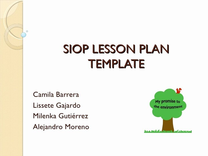 Siop Lesson Plan Template 1 Best Of Hands On Activity Presentation Siop Lesson Plan Template