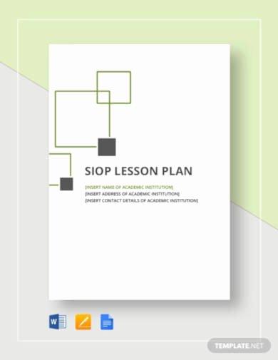 Siop Lesson Plan Template 1 Unique 5 Best Siop Lesson Plan Templates Pdf Google Docs
