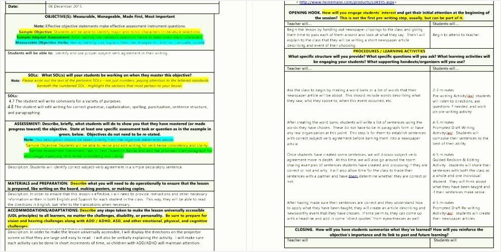 Siop Lesson Plan Template 2 Inspirational 10 Lesson Plan Checklist Template Besttemplatess123