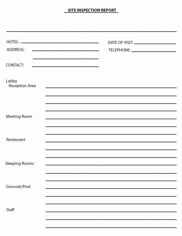 Site Visit Report Templates Unique Meeting forms