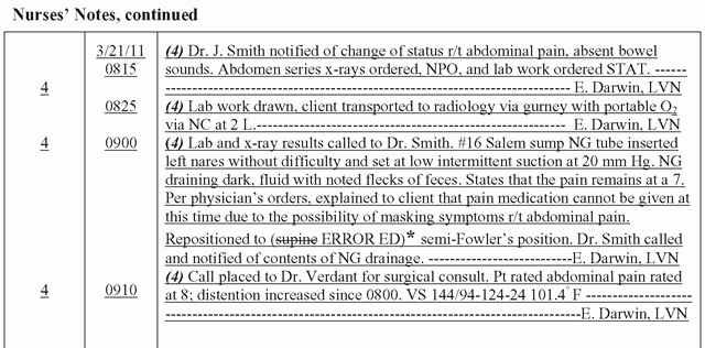 Skilled Nursing Documentation Templates Inspirational Nursing Notes Documentation Examples Google Search