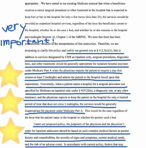 Skilled Nursing Documentation Templates New 2 Midnight Rule Medicare S New 2013 Inpatient Hospital